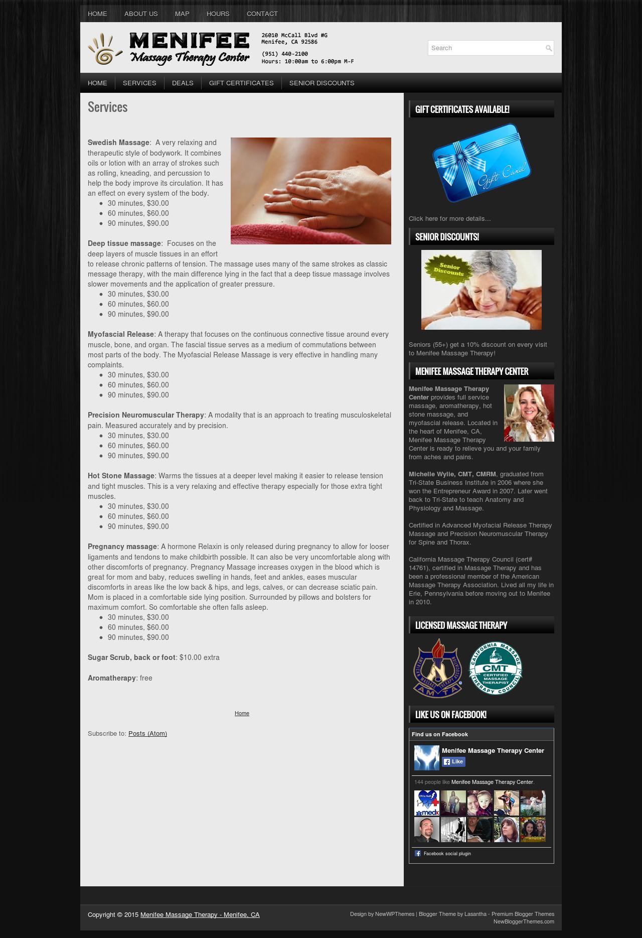 menifee massage therapy